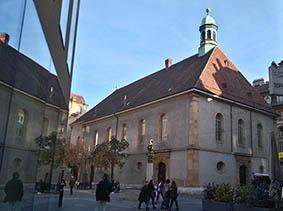 Le temple du Bas à Neuchâtel où aura lieu le prochain concert de la chorale du Chant Sacré, le 18 mars 2018, avec la Société chorale de la Ville, dirigé par Romain Mayor