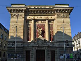 La salle Victoria Hall à Genève où aura lieu le prochain concert de la chorale du Chant Sacré, le 30 mars 2018, avec la Société chorale de la Ville, dirigé par Romain Mayor